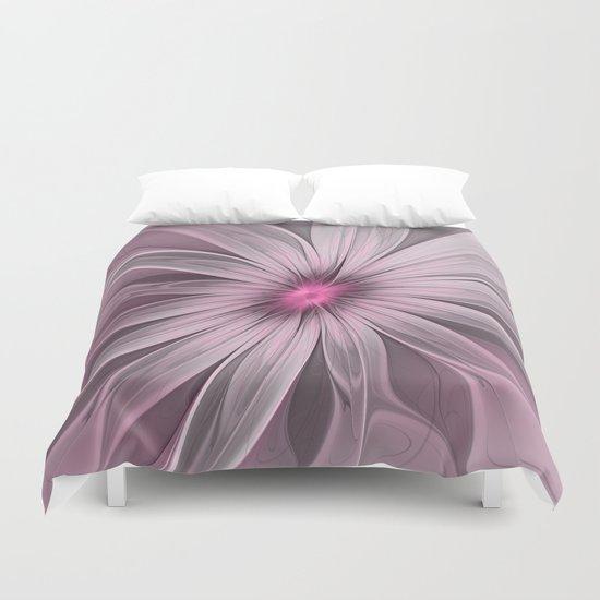 Flower waiting for a Bee Duvet Cover