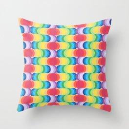 Rainbow Dragon Scales 2 Throw Pillow