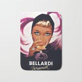 Vintage Bellardi Italian Cordial Vermouth Advertising Poster Bath Mat