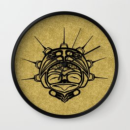 Ink Frog Sand Wall Clock