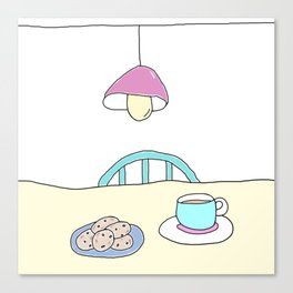 Hot beverage and cookies Canvas Print