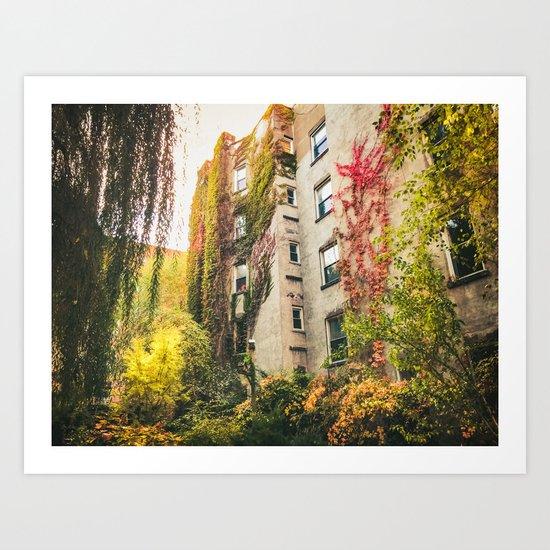 Autumn - New York City - East Village Garden Art Print