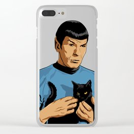 Spock's cat Clear iPhone Case