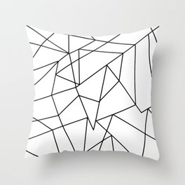 Simple Modern Black and White Geometric Pattern Throw Pillow