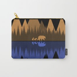 Bear & Cubs Black Carry-All Pouch