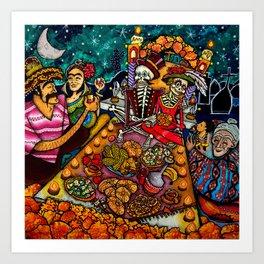 Buffet nel dìa de los muertos Art Print