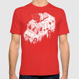 Melty Ice Cream Truck - sherbet T-shirt
