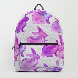 Watercolor Bunnies 1D by Kathy Morton Stanion Backpack