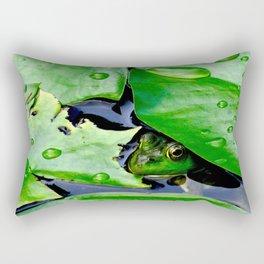 Peek  A Boo frog Rectangular Pillow