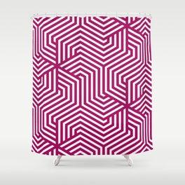 Jazzberry jam - violet - Minimal Vector Seamless Pattern Shower Curtain