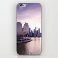 singapore iPhone & iPod Skins featuring Singapore Skyline by Krishots Photography