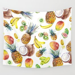 Tropical Fruits, Pina Colada, Fruit Punch tropical design Wall Tapestry
