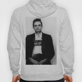 Johnny Cash Mug Shot Country Music Fan Mugshot Hoody
