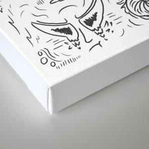 Random Sketches Canvas Print