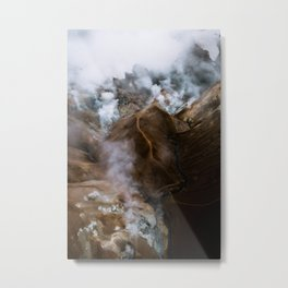 Kerlingarfjöll mountain range in Iceland - Aerial Landscape Photography Metal Print