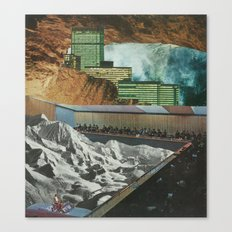 Strange Cities: A Theatre Within The Realm Of The Underworld Canvas Print
