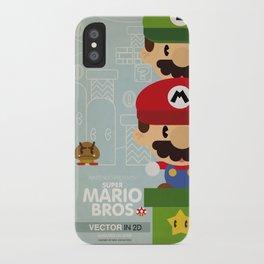 mario bros 2 fan art iPhone Case