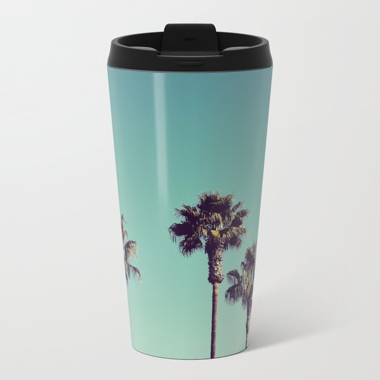 California Palm Trees Metal Travel Mug