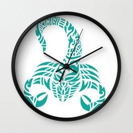 scorpion zodiac bangkok style Wall Clock