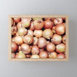Onions, Onions, Onions! Framed Mini Art Print