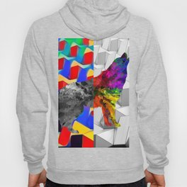 Arctic Howling Wolf Hoody