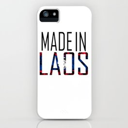 Made In Laos iPhone Case