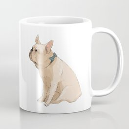 French bulldog in Blue Coffee Mug