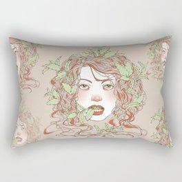 Peppermint Girl Rectangular Pillow