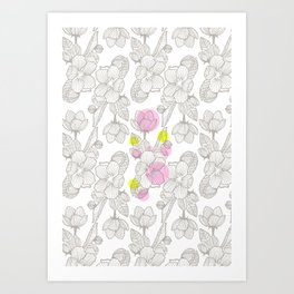 Cherry Flower  Art Print