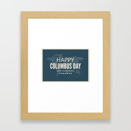 Happy Columbus Day United States of America Framed Art Print