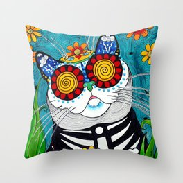 Stormy the Cat Throw Pillow