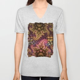 Dragon dreams, fractal pattern abstract Unisex V-Neck