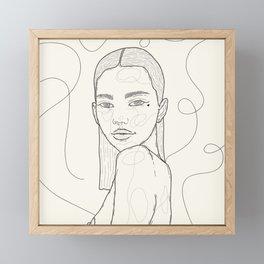 January B&W. Framed Mini Art Print