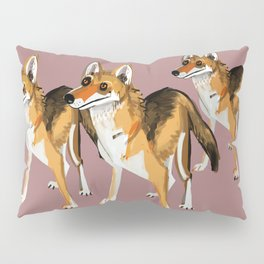 Senegalese Wolf in Pink Pillow Sham