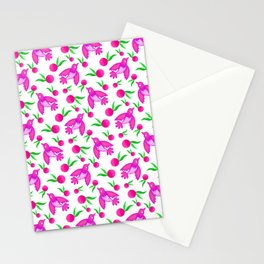 Little pretty swallows birds with spread wings and sunny bright lovely oranges pattern Stationery Cards