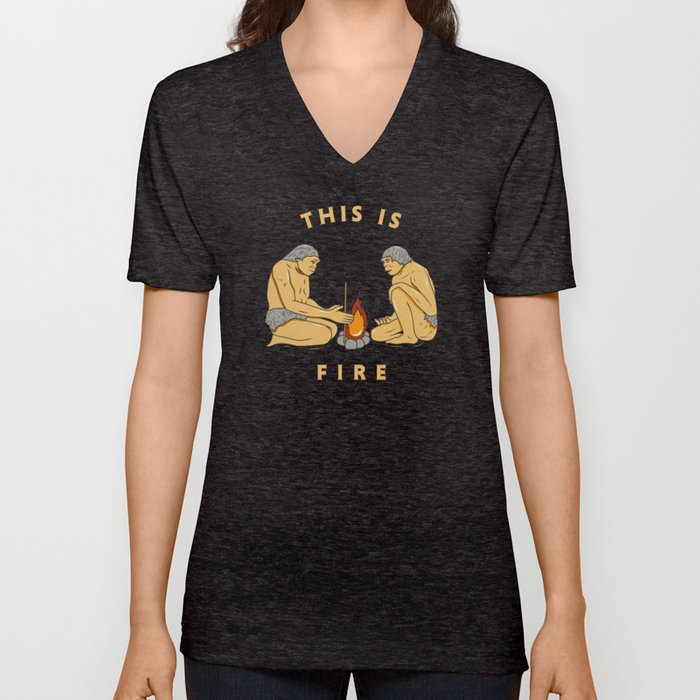 This Is Fire Unisex V-Neck