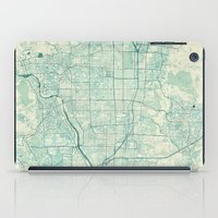vintage map iPad Cases featuring Kyoto Map Blue Vintage by City Art Posters