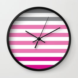 Stripes Gradient - Pink Wall Clock