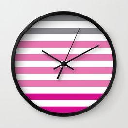 Stripes Gradient - Pink Wall Clock