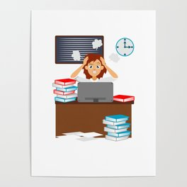 Menopause Woman with Menopause Gift Poster
