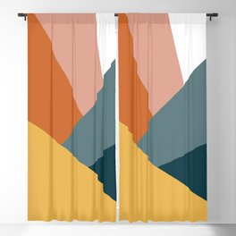 Abstract Shapes Design with Modern Colors Blackout Curtain