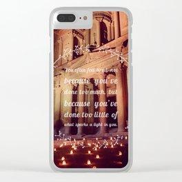 Spark a Light Clear iPhone Case