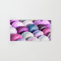 Lavender Purple Macaroons Hand & Bath Towel