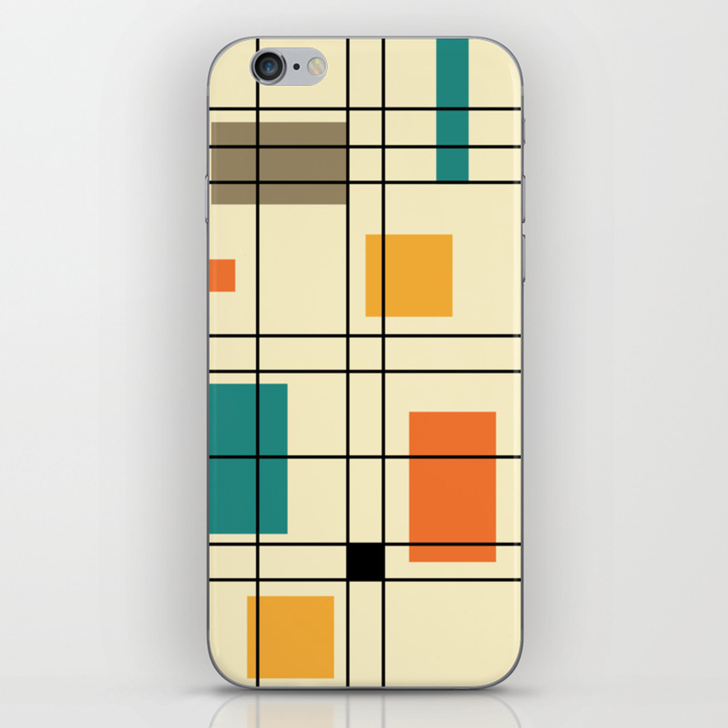 1950's Abstract Art iPhone Skin by zennykenny