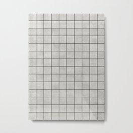 Small Grid Pattern - Grey Metal Print