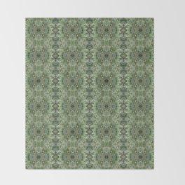 Succulent kaleidoscope Throw Blanket