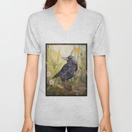Canuck the Crow Unisex V-Neck