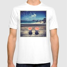 relax Mens Fitted Tee White MEDIUM