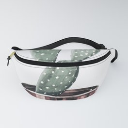 Potted Cactus Rose Gold Fanny Pack