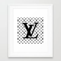 lv Framed Art Prints featuring lv   pillow by HeyShay
